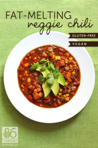 Fat-Melting Veggie Chili 86lemons.com