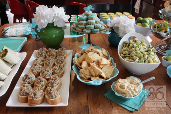 Vegan Baby Shower in Tiffany Blue and Elephants 86lemons.com