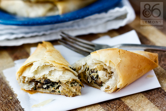 how to cook filo pastry parcels