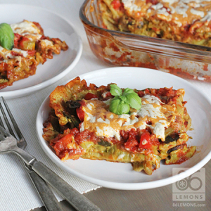 Vegan Lasagna with Lemon Basil Cashew Cheeze
