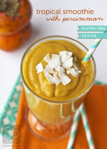 Tropical Smoothie with Persimmon  86lemons.com