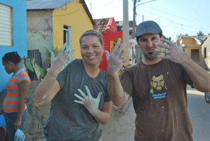 Painting the Clinic in Agua Negra, Dominican Republic