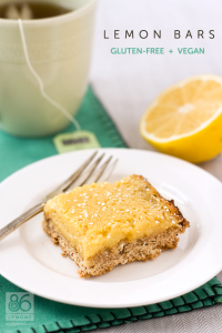 DELICIOUS Lemon Bars #vegan #glutenfree  86lemons.com