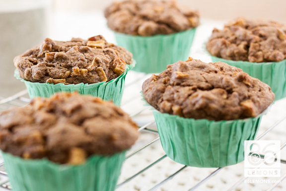 Banana-Apple Buckwheat Muffins  86lemons.com #vegan #glutenfree #sugarfree #healthy #recipe