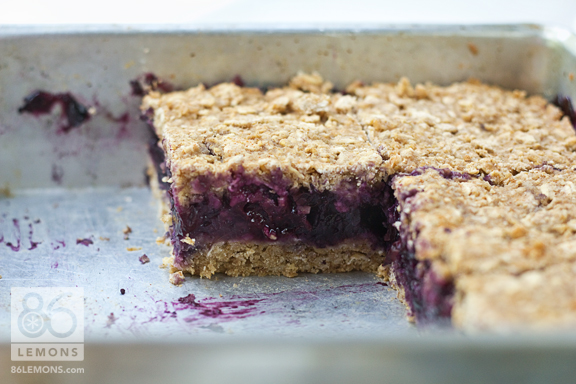 Blueberry-Oat Breakfast Squares #vegan #glutenfree #breakfast #recipe  86lemons.com