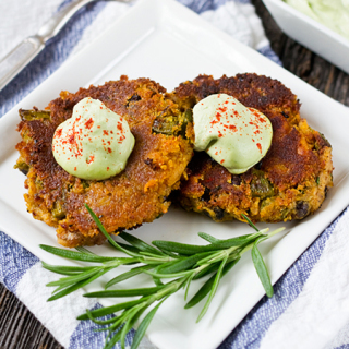Vegan Potato Asparagus Cakes