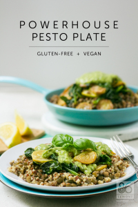 Powerhouse Pesto Plate #vegan #glutenfree #soyfree #nutfree #healthy #ohsheglows
