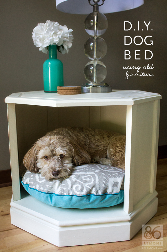 DIY Dog Bed side table makeover 86 Lemons