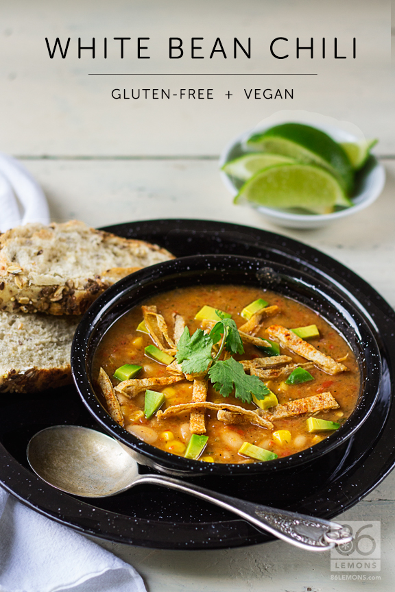 ... White Bean Chili recipe to share with you. A perfect way to welcome