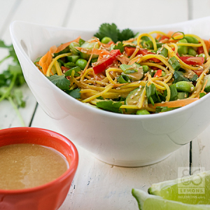 Empowered Noodle Bowl with Thai Peanut Sauce (vegan, gluten-free)