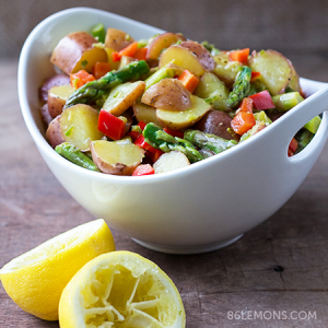 Asparagus Potato Salad with Jalapeño Dressing (vegan, gluten-free)