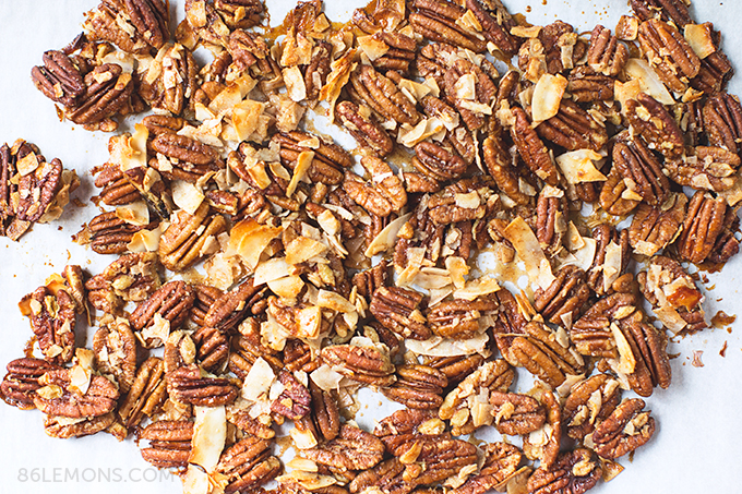 Toasted Coconut-Pecan Clusters #vegan #glutenfree