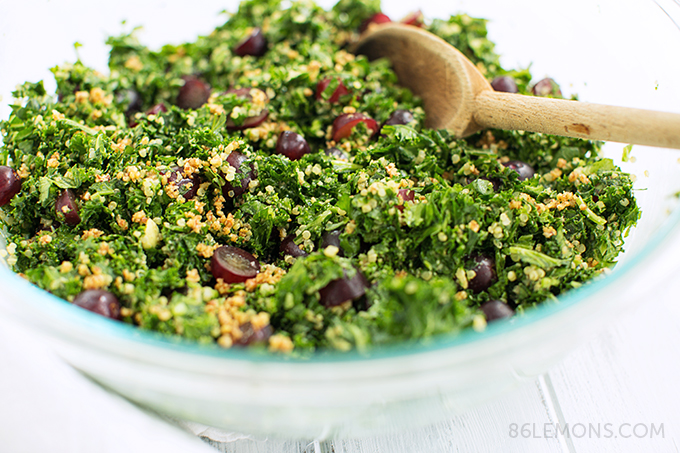 Chopped Kale & Quinoa Salad #vegan #glutenfree #recipe 06